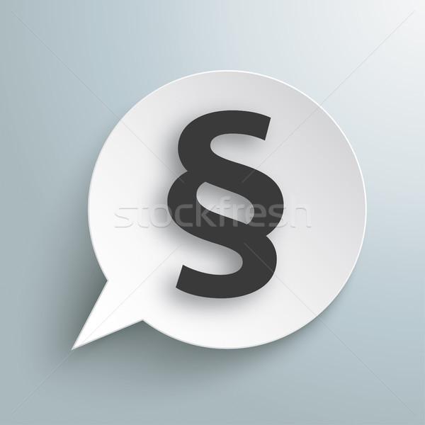 Round Paper Speech Bubble Paragraph Stock photo © limbi007