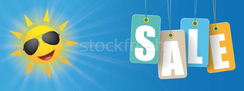 Sun Sunglasses Colored Price Stickers Slae Header Stock photo © limbi007