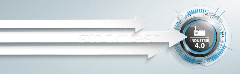 3 Arrows Industrie 4.0 Button Header Stock photo © limbi007