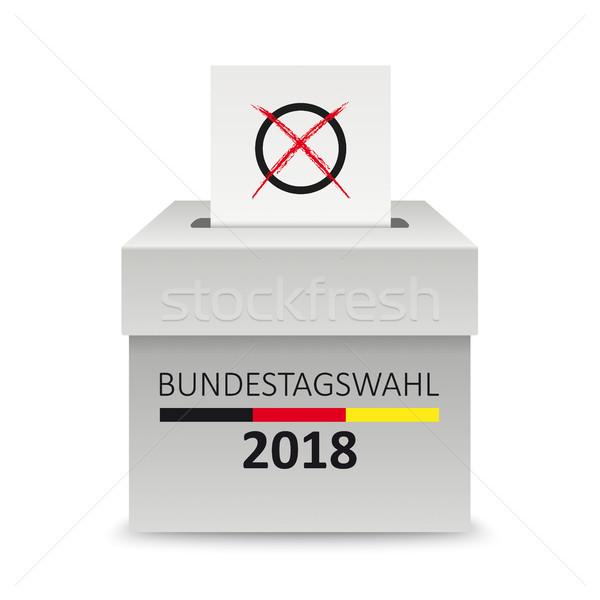 Voting Box Paper Bundestagswahl Stock photo © limbi007