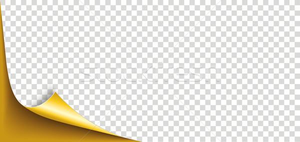 コーナー 紙 カバー 透明な eps ストックフォト © limbi007