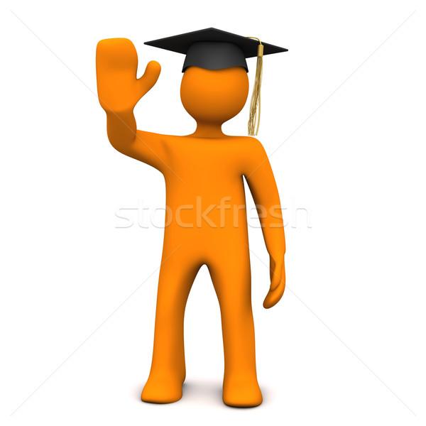 Olá pós-graduação laranja preto graduação Foto stock © limbi007