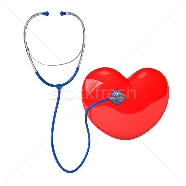 Stethoscope Red Heart Stock photo © limbi007