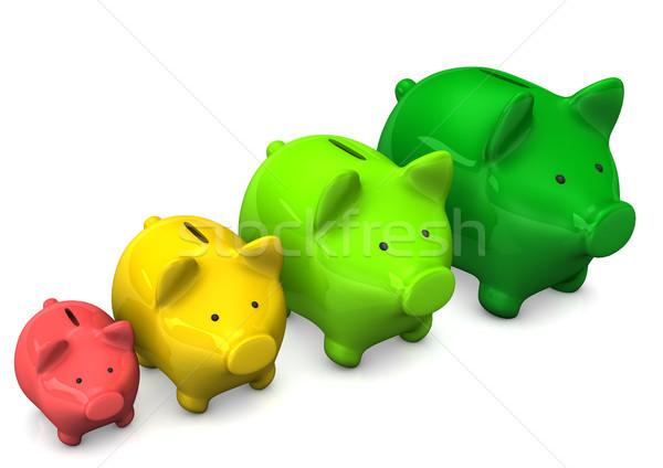 Piggy Bank Chart Stock photo © limbi007