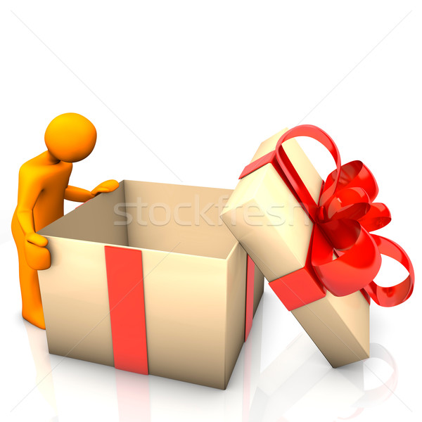 Manikin Empty Gift Stock photo © limbi007