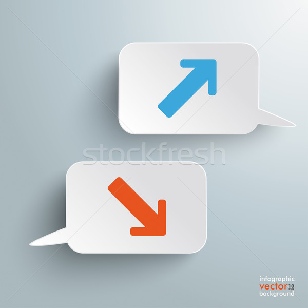 Two Speech Bubbles Stagnation Growth Stock photo © limbi007