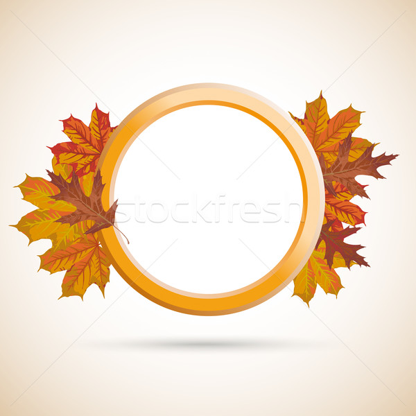 Autumn Ring Foliage Cover Stock photo © limbi007