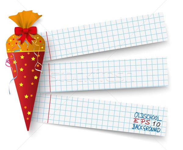Candy Cole Checked Paper Stock photo © limbi007