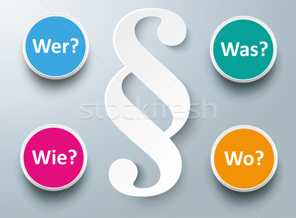 Paragraph Wer Wie Was Wo Stock photo © limbi007