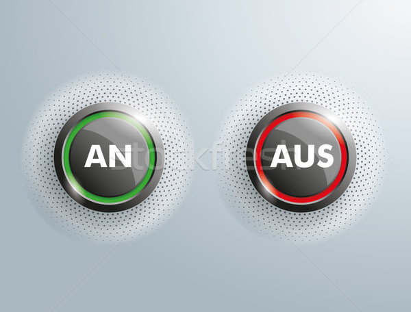 2 Buttons An Aus Stock photo © limbi007