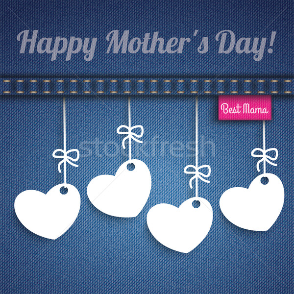 Stock photo: Jeans 4 Hanging Hearts Mothersday