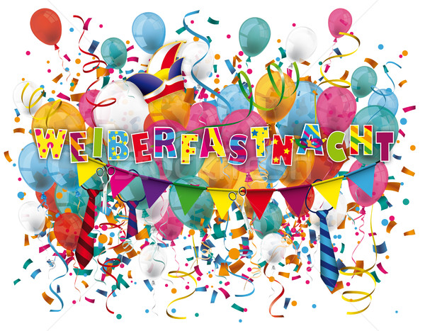Weiberfastnacht Balloons Confetti Stock photo © limbi007