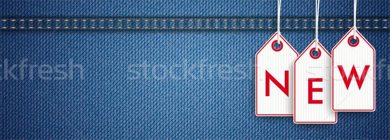 Jeans Header Price Stickers New Stock photo © limbi007