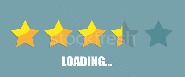 Loading 5 Stars Rating Stock photo © limbi007