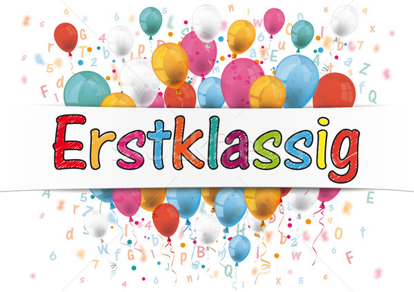 Banner Balloons Letters Numbers Erstklassig Stock photo © limbi007