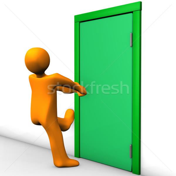 Secured Door Stock photo © limbi007