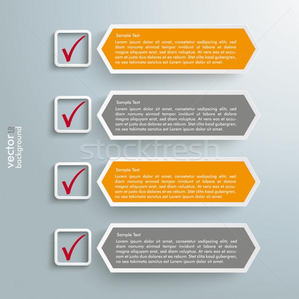 Checklist Banners Long Hexagons Stock photo © limbi007