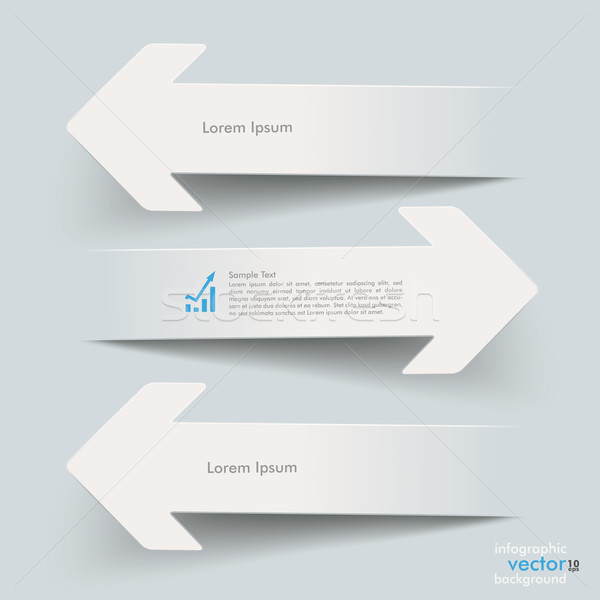 Papier pijlen witte grijs eps 10 Stockfoto © limbi007