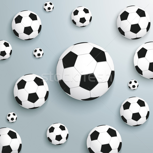 Footballs Silver Background Stock photo © limbi007