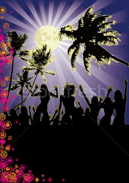 Full Moon Beach Party Stock photo © limbi007