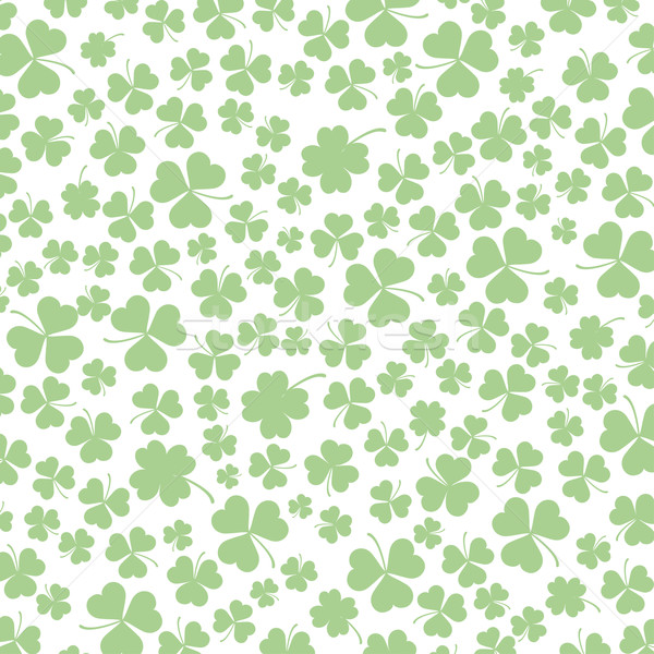St. Patricks Day Shamrocks Background Stock photo © limbi007