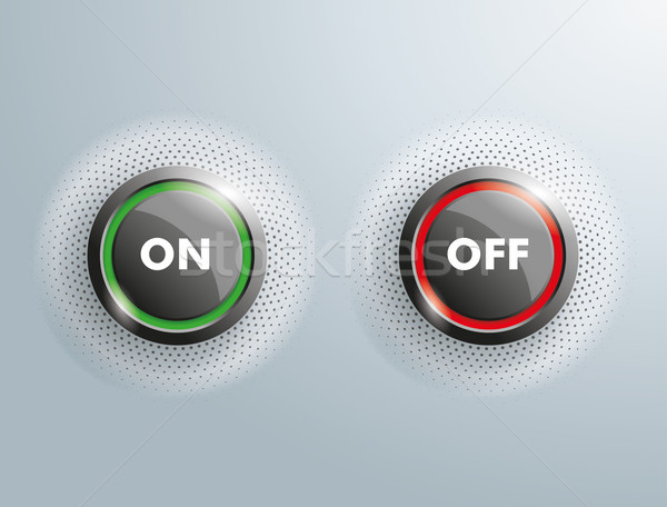 2 Buttons On Off SH Stock photo © limbi007