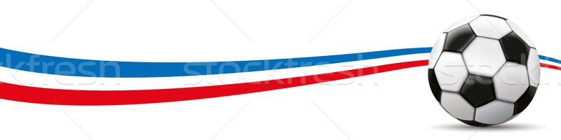 Football Netherlands Flag Long Header Stock photo © limbi007