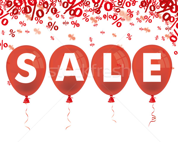 Red Percents 4 Red Balloons Sale Stock photo © limbi007