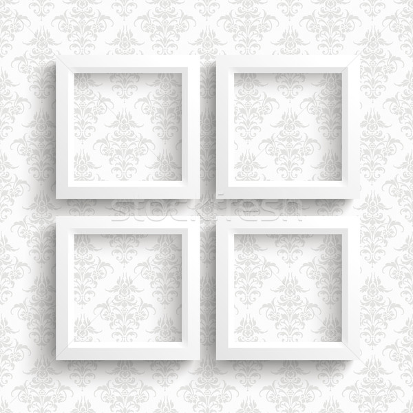 4 Frames Ornaments Wallpaper Stock photo © limbi007