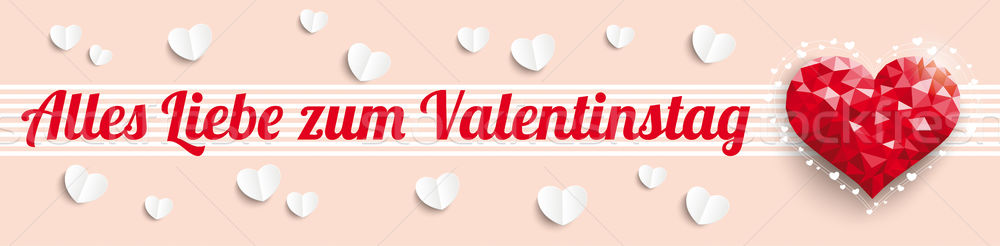 Low Poly Heart Valentinestag Header Stock photo © limbi007