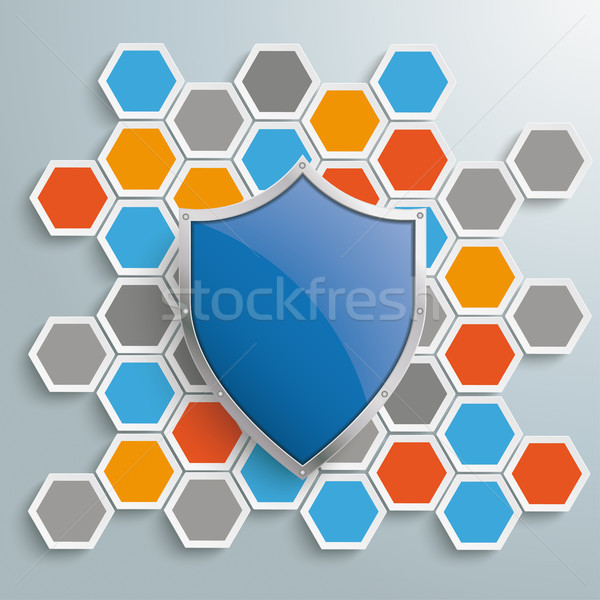 Kolorowy plaster miodu ochrony tarcza struktury Zdjęcia stock © limbi007