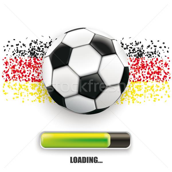 Foto stock: Futebol · Alemanha · cores · progresso · bar · branco