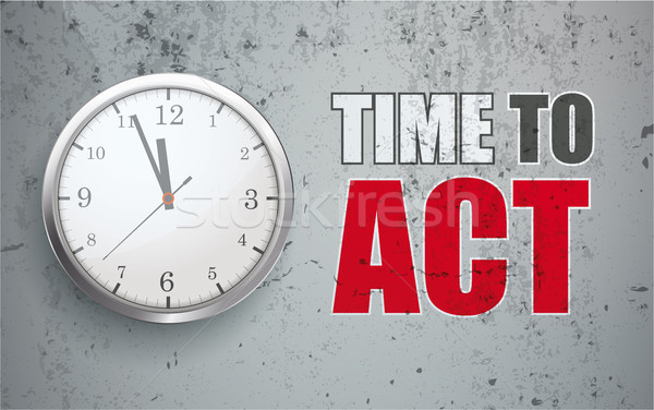 Concrete Time To Act Stock photo © limbi007