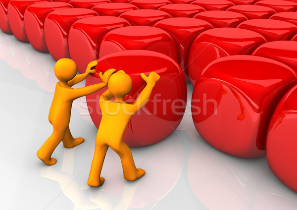 Complete Red Cubes Stock photo © limbi007