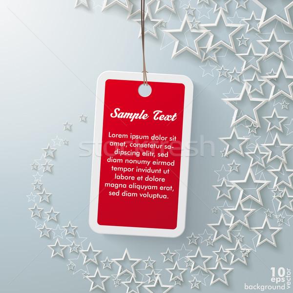 Red Price Sticker With Stardust Stock photo © limbi007
