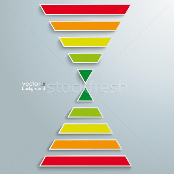 2 Colored Pyramids Stock photo © limbi007