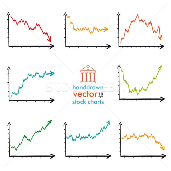 Handdrawn Market Charts Situations Stock photo © limbi007