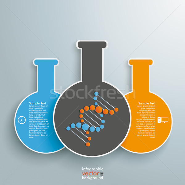 Three Tubes Infographic Stock photo © limbi007