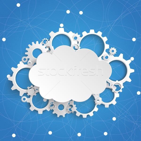 Cloud Gears Engine Blue Sky Stock photo © limbi007
