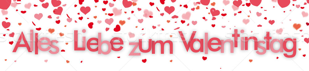Confetti Hearts Header Valentinstag Stock Photo © Limbi007