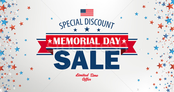 Memorial Day Sale Side Stars Header Stock photo © limbi007