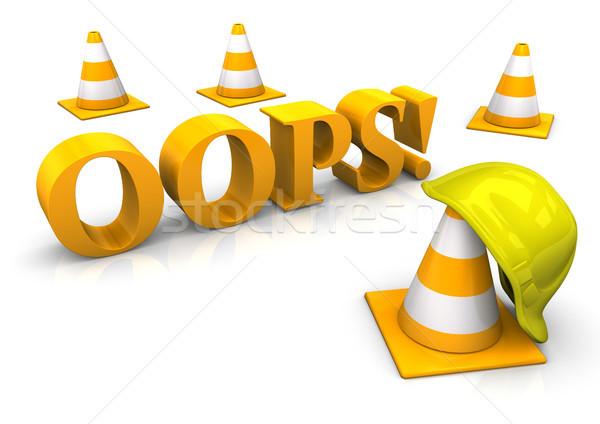 Ups amarillo casco texto carretera Foto stock © limbi007