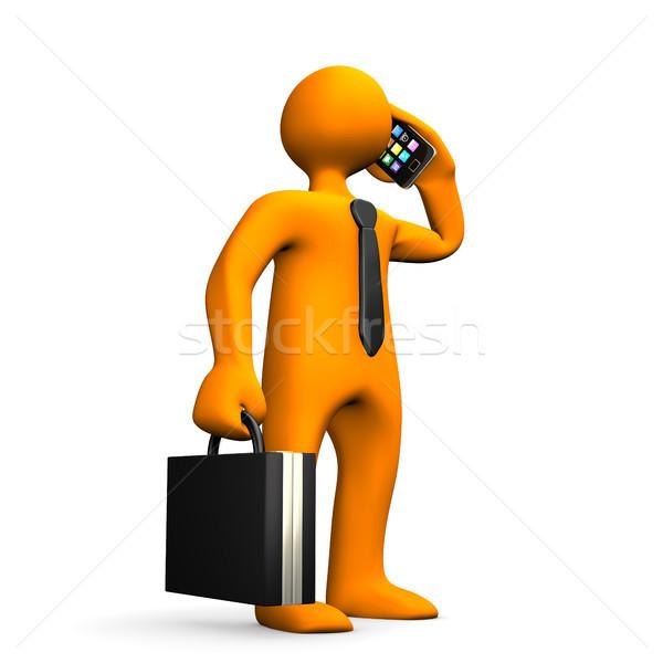 Businessman Smartphone Stock photo © limbi007