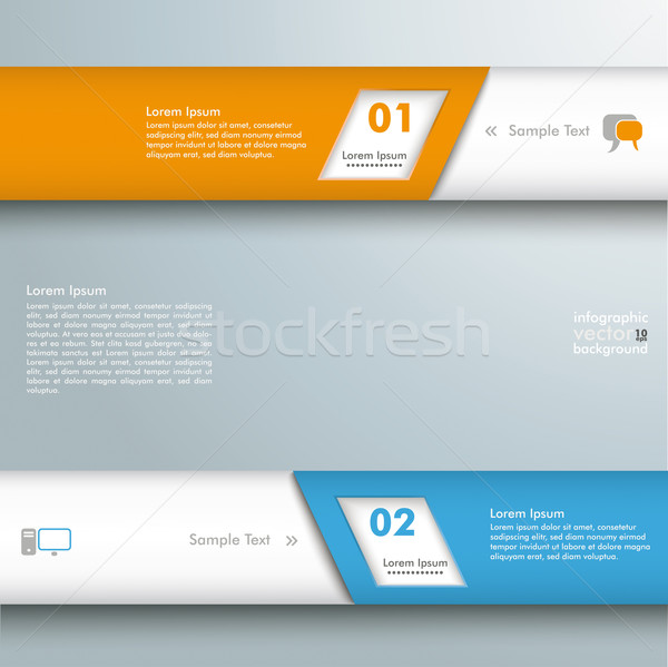 Infographic 2 Bevel Lines Stock photo © limbi007
