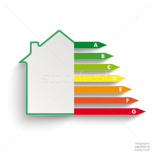 Stock fotó: Ház · energia · passz · fehér · eps · 10