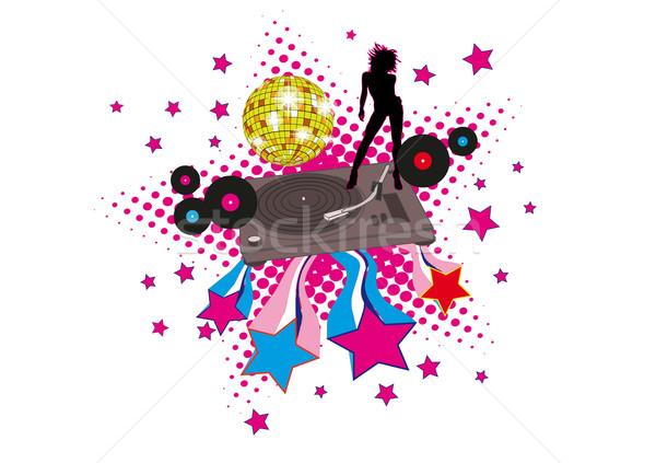 Disco sterren retro dekken cd lp Stockfoto © limbi007