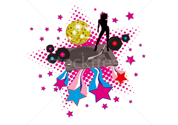 Stockfoto: Disco · sterren · retro · dekken · cd · lp