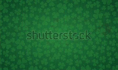 Long Vintage Frame Shamrocks St Patricks Day  Stock photo © limbi007