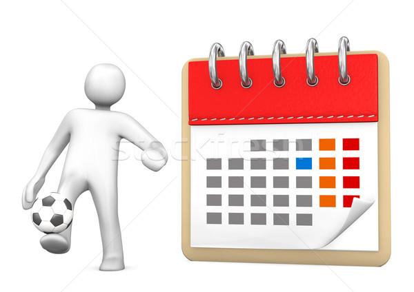 Manikin Calendar Football Stock photo © limbi007