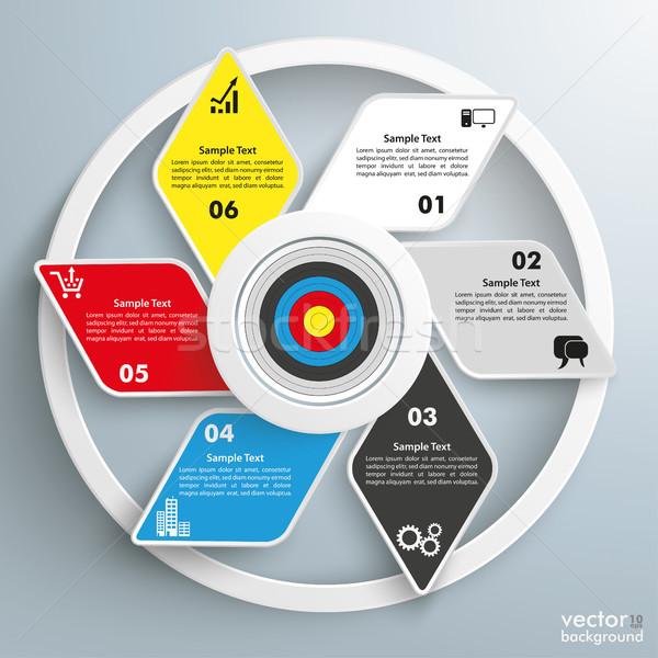 Target Rhombus Cycle Infographic Stock photo © limbi007